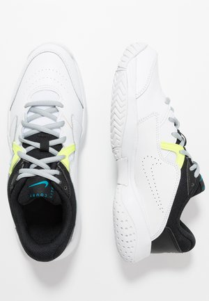 COURT Jr.  LITE 2 UNISEX - Multicourt tennis shoes - white/neo turquoise/hot lime/light smoke grey