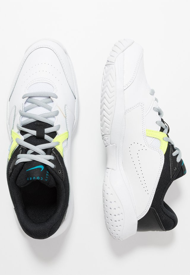 COURT LITE 2 - Multicourt Tennisschuh - white/neo turquoise/hot lime/light smoke grey
