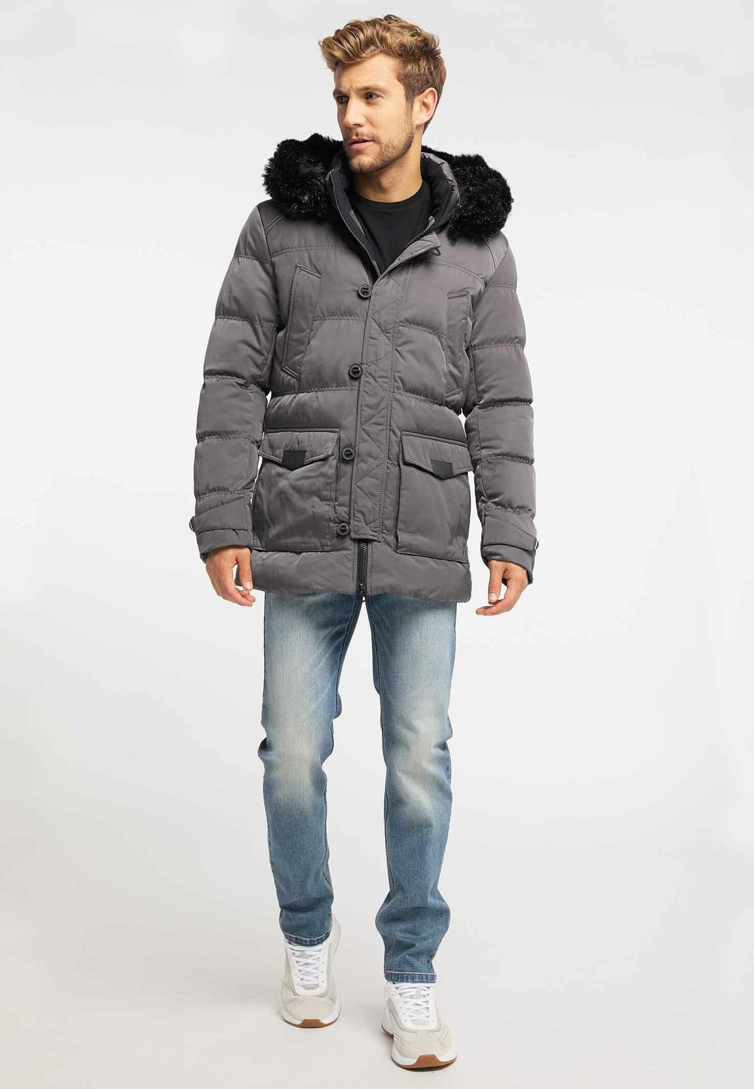 Mo Veste d'hiver - light grey