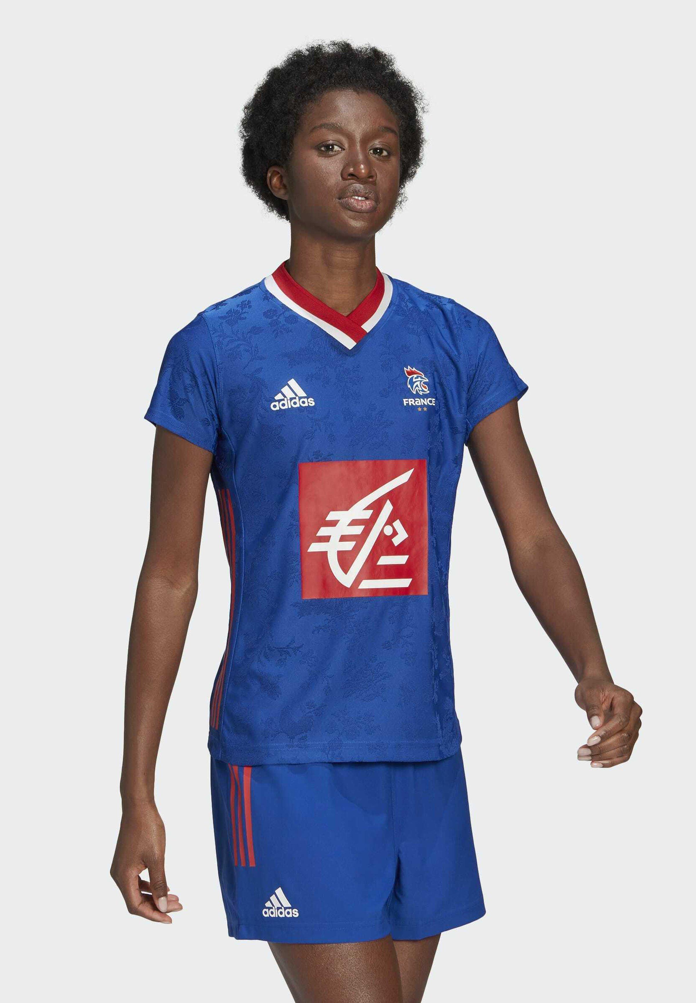 Women FFHB REP W HB PERFORMANCE AEROREADY PRIMEGREEN HANDBALL FITTED JERSEY - National team wear