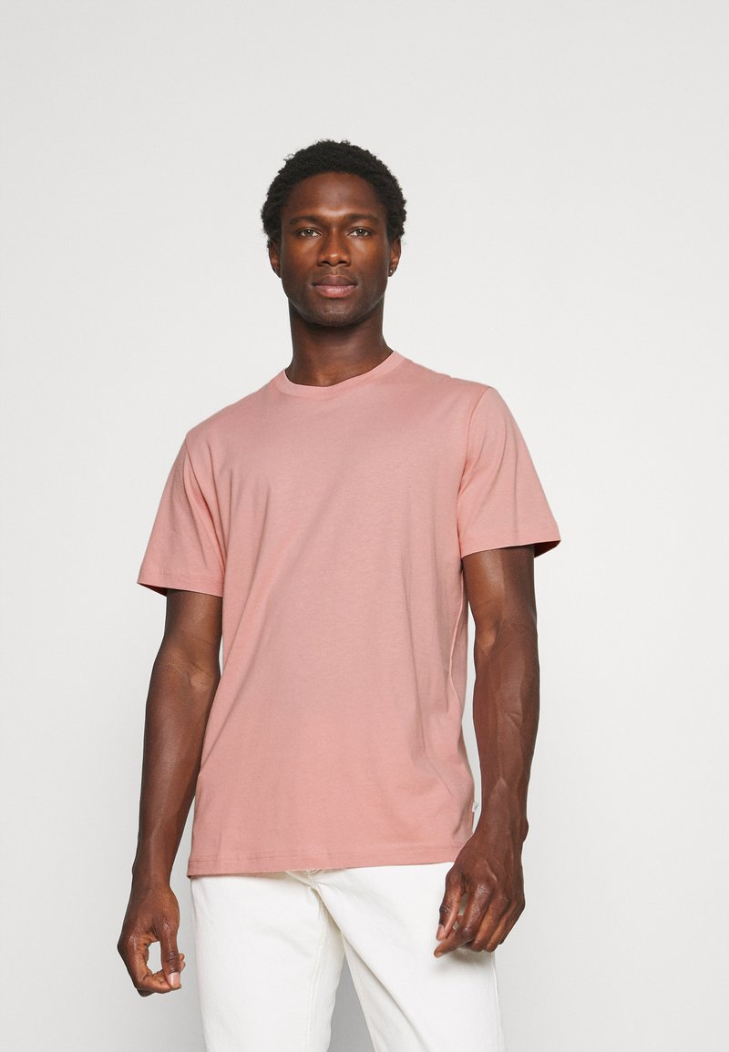 Selected Homme - SLHNORMAN O NECK TEE - Basic T-shirt - mellow rose