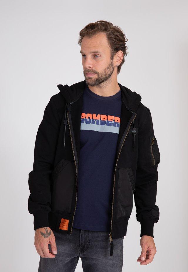 RANGER - veste en sweat zippée - black