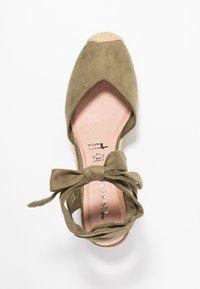 Tamaris - Platform sandals - khaki - 3