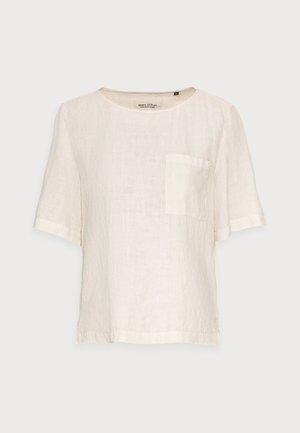 BLOUSE SHORT SLEEVE CHEST POCKET STYLE - Blouse - summer taupe