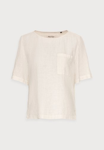 BLOUSE SHORT SLEEVE CHEST POCKET STYLE - Bluser - summer taupe