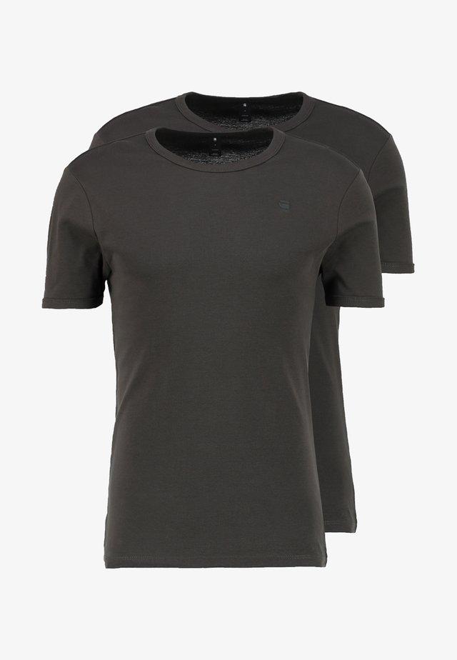 BASE 2 PACK  - T-shirt basic - asfalt