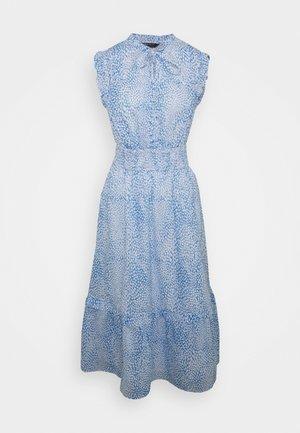 PRINT WASIT MIDI - Day dress - blue