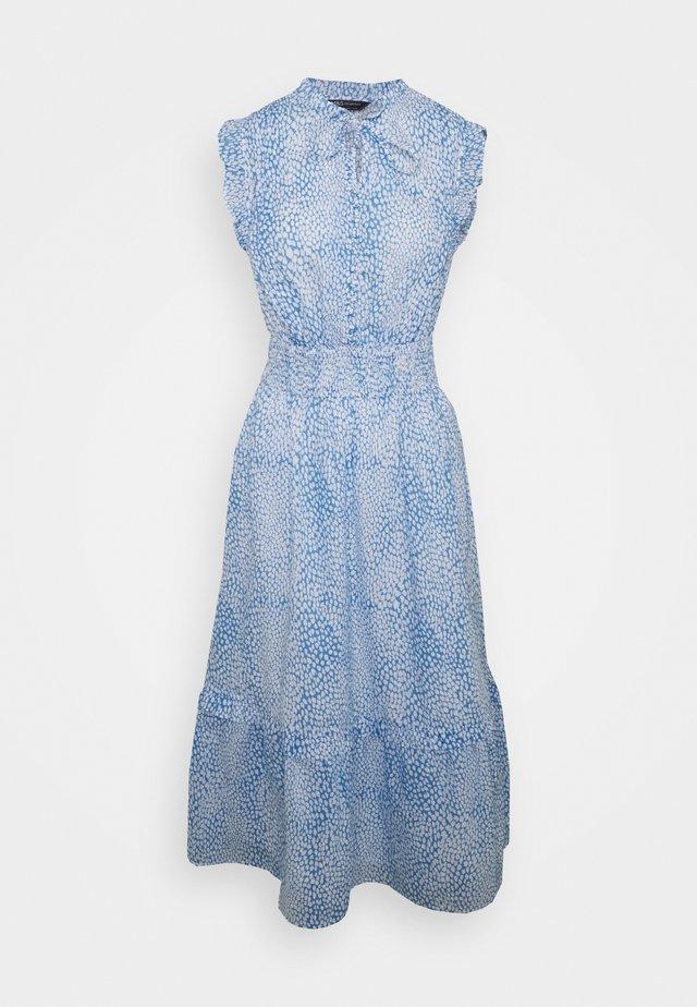 PRINT WASIT MIDI - Sukienka letnia - blue