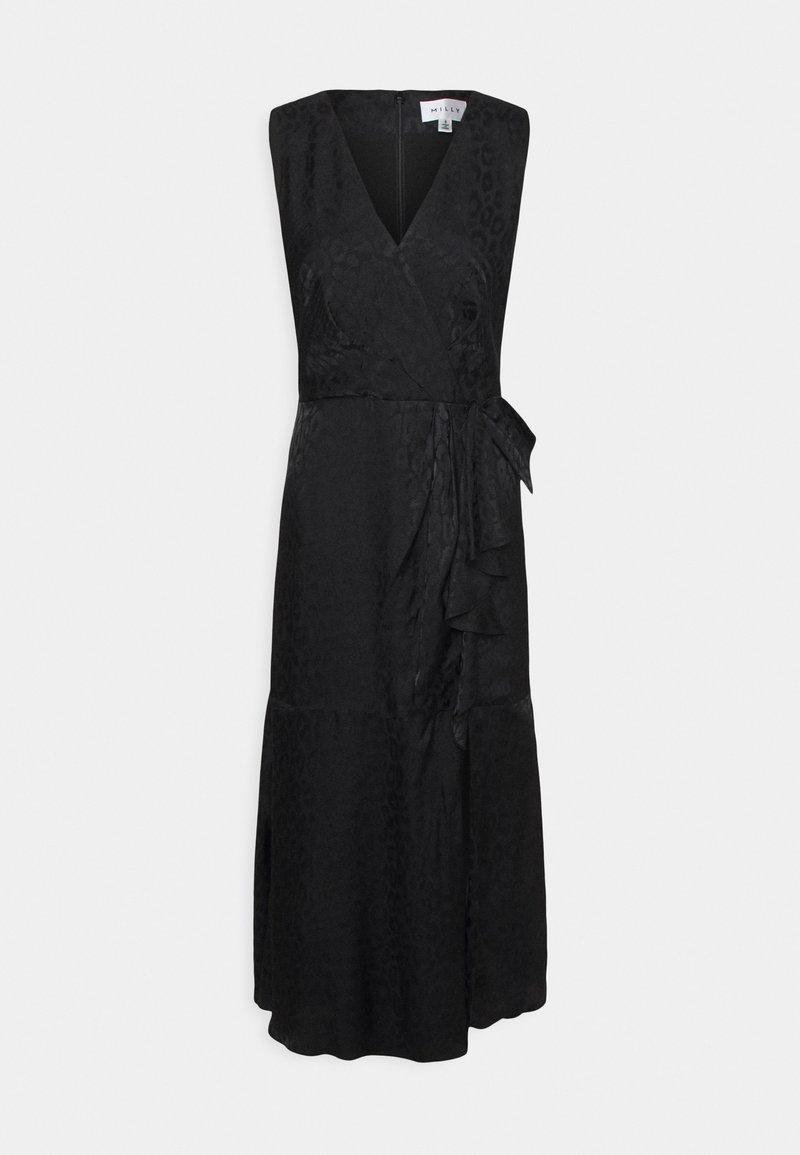 Milly - FONTINE CHEETAH DRESS - Cocktail dress / Party dress - black
