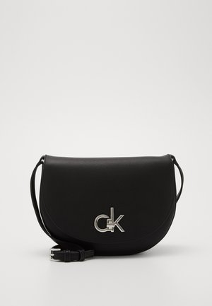 RE LOCK SADDLE BAG - Borsa a tracolla - black