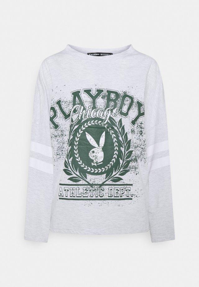 PLAYBOY VARSITY BUNNY - T-shirt à manches longues - grey marl