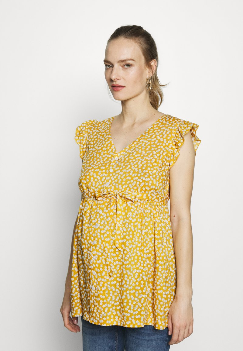 JoJo Maman Bébé - DITSY BLOUSE - Bluzka - yellow