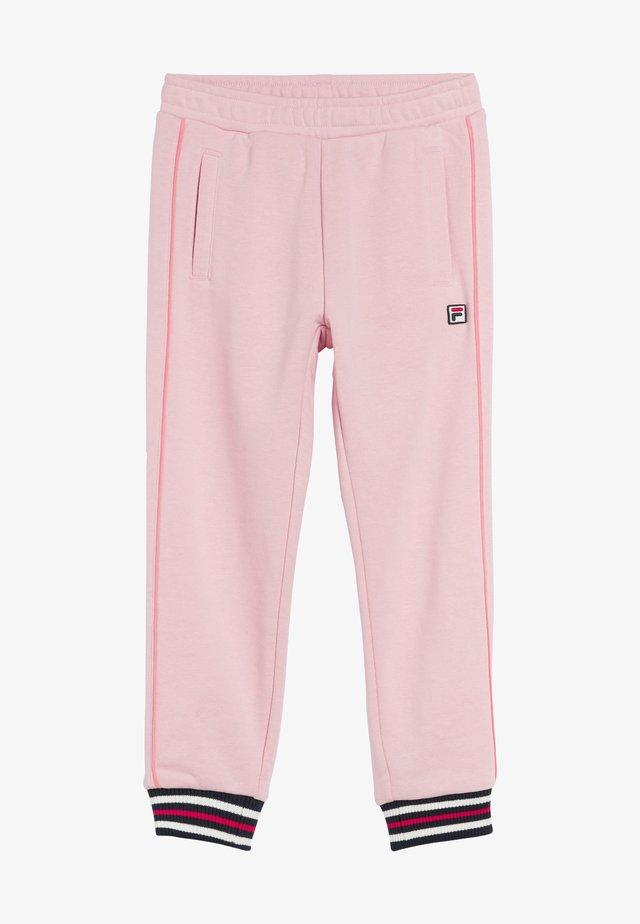 Teplákové kalhoty - coral blush