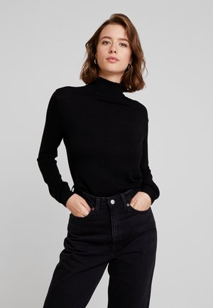 VIBOLONIA KNIT ROLLNECK TOP-NOO - Pullover - black