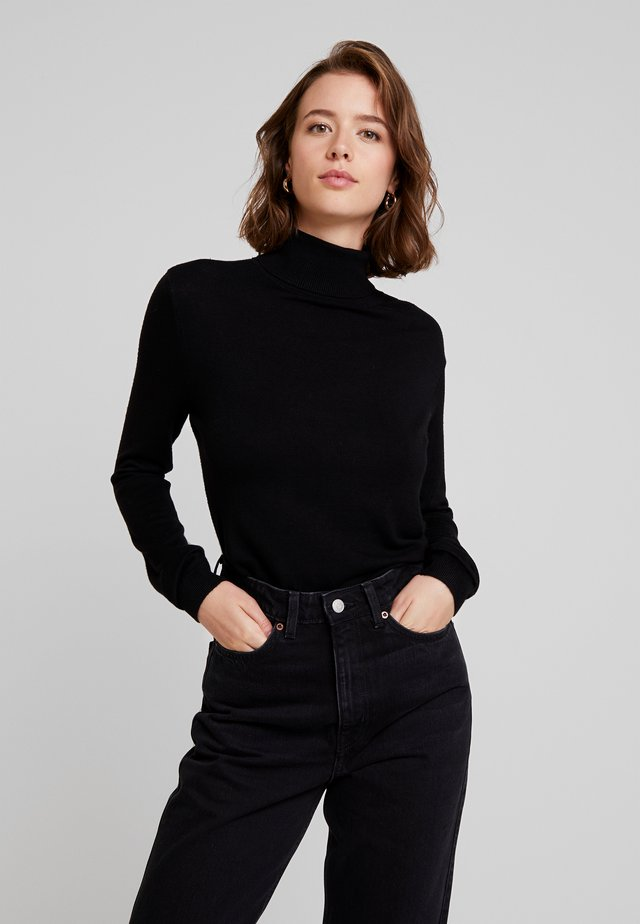VIBOLONIA KNIT ROLLNECK TOP-NOO - Trui - black