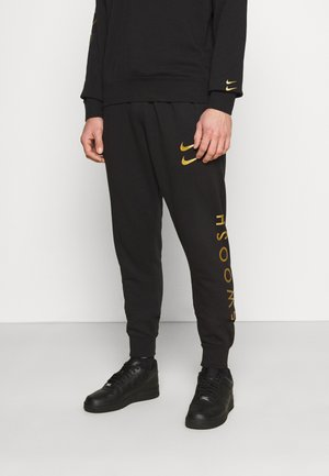 PANT - Tracksuit bottoms - black/gold foil