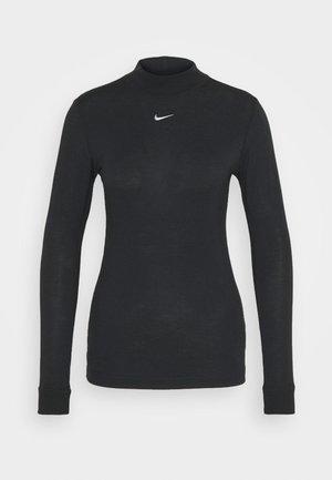 TEE MOCK SLIM - Top sdlouhým rukávem - black/white