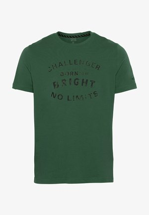 Print T-shirt - jungle green