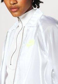 Nike Sportswear - AIR SHEEN - Summer jacket - white/volt - 5