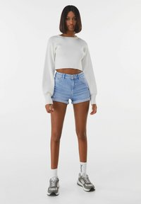 Bershka - Denim shorts - blue - 1