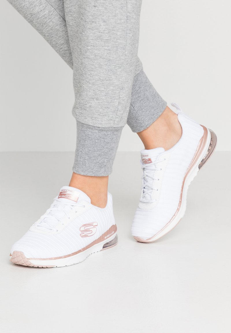 Skechers Sport - SKECH AIR - Trainers - white/rosegold
