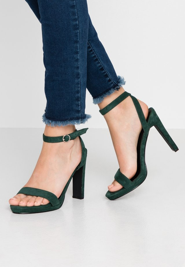MELODY - High heeled sandals - teal