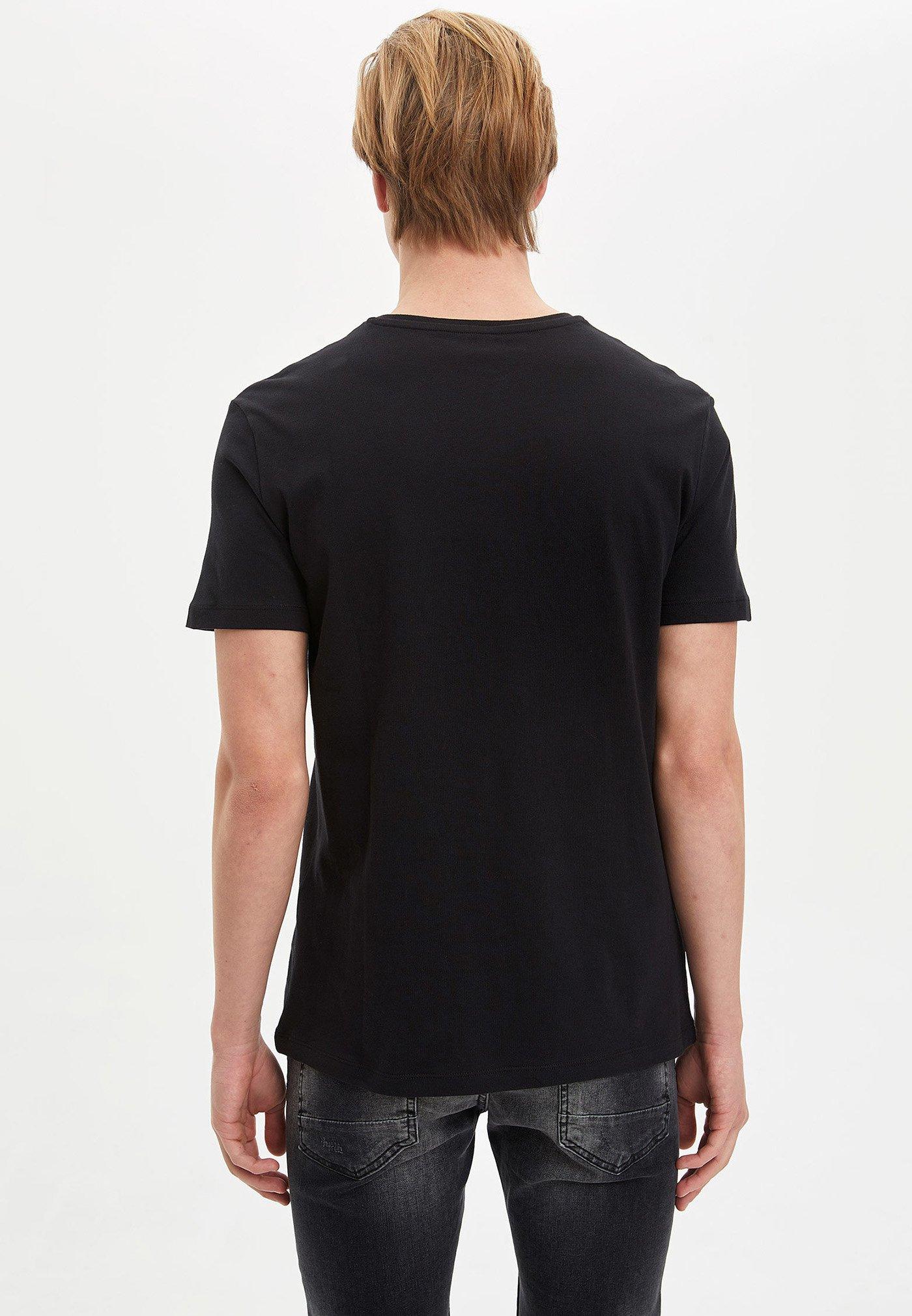 DeFacto Print T-shirt - black PEPtz