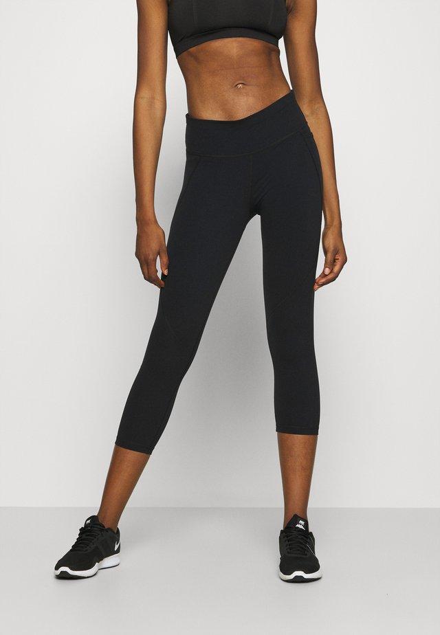 POWER CROP WORKOUT LEGGINGS - Collant - black