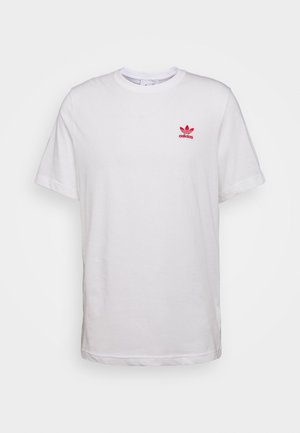 ESSENTIAL TEE UNISEX - T-shirts basic - white/scarle