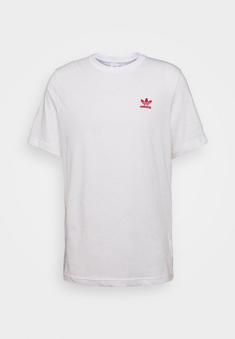 adidas Originals - ESSENTIAL TEE UNISEX - Basic T-shirt - white/scarle