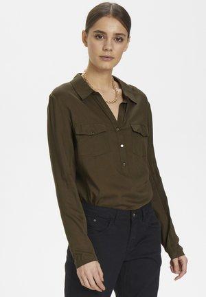 HONEY SHIRT - Button-down blouse - sea green