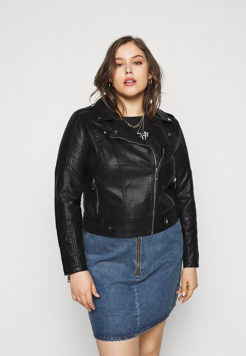 Vero Moda Curve - VMKERRIULTRA COATED JACKET  - Giacca in similpelle - black