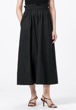ROCK - Pleated skirt - schwarz