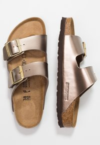 Birkenstock - ARIZONA - Slippers - electric metallic taupe - 3