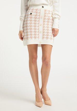 Pouzdrová sukně - weiss beige
