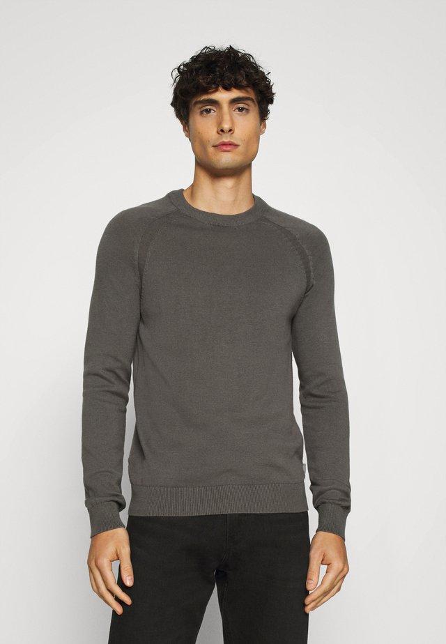 O NECK - Sweter - grey melange