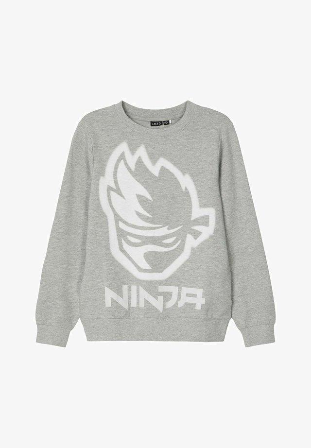 NINJA LOGO - Sweatshirt - grey melange