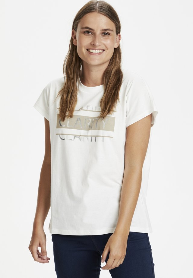 KAFALLY - Print T-shirt - chalk-nomad/silver text print