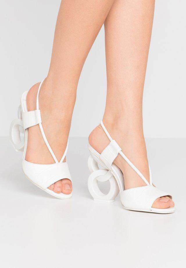 HALLE - High heeled sandals - cloud
