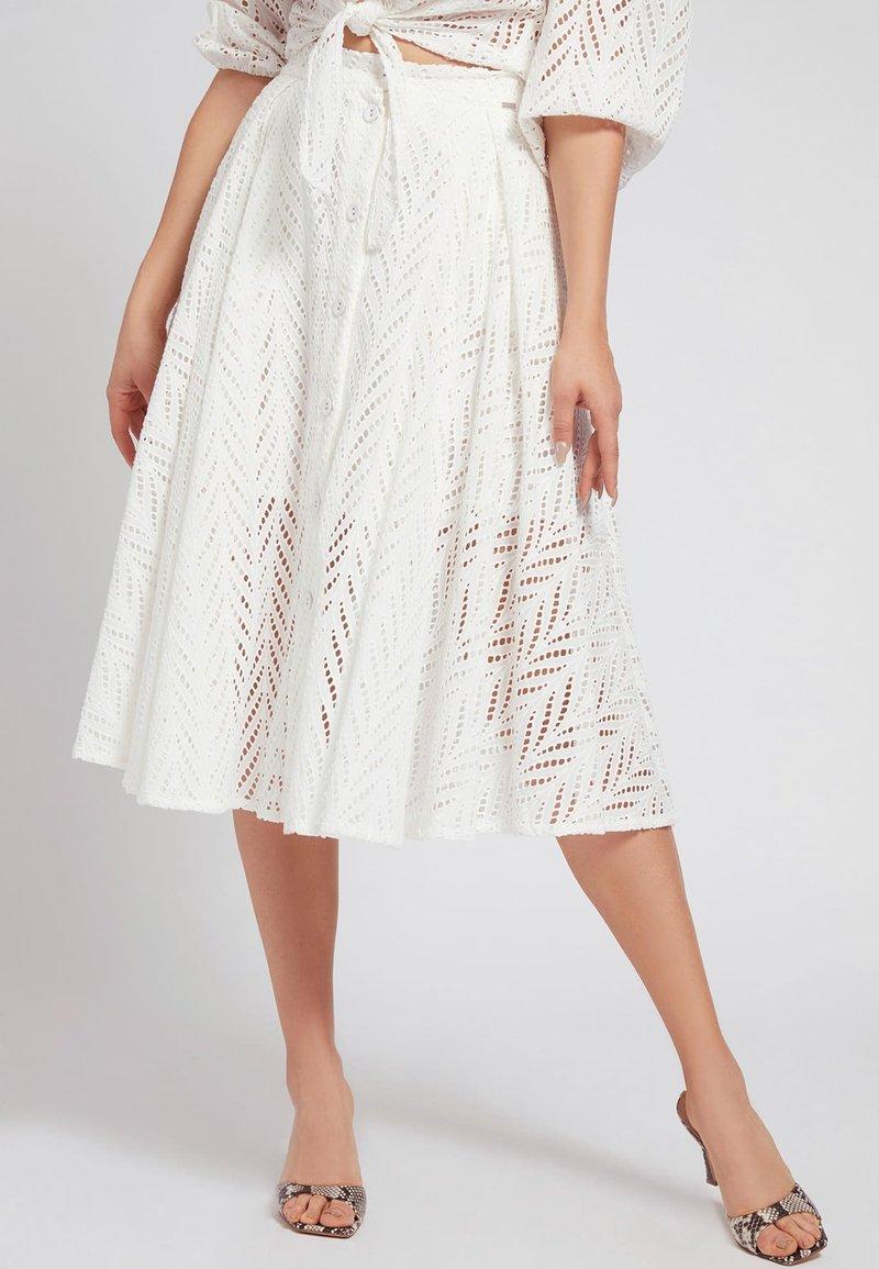 Guess - A-line skirt - weiß