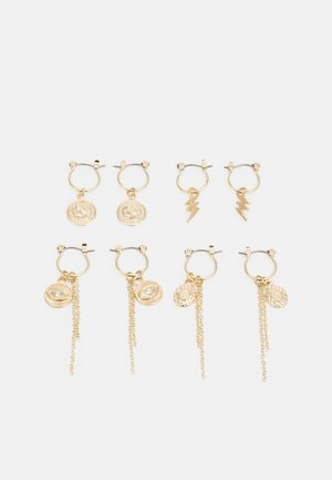 PCKAROLINE HOOP EARRING 4 PACK  - Øredobber - gold-coloured