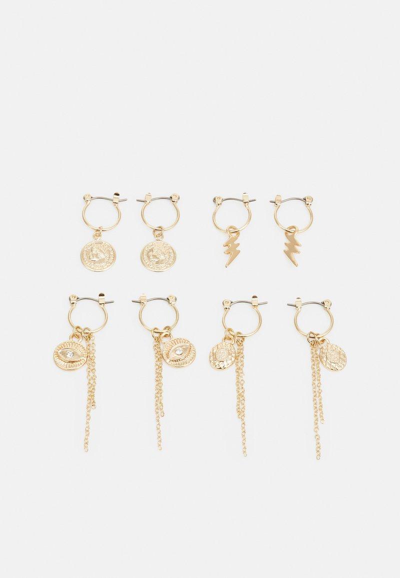 Pieces - PCKAROLINE HOOP EARRING 4 PACK  - Øredobber - gold-coloured