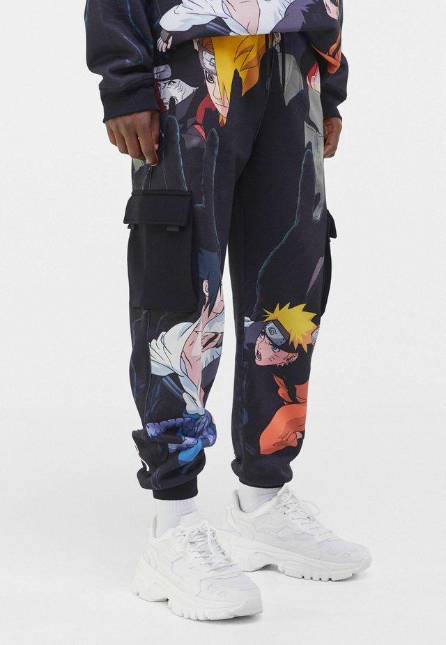 NARUTO - Pantalon cargo - black