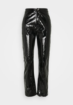 SHINY TROUSER - Trousers - black