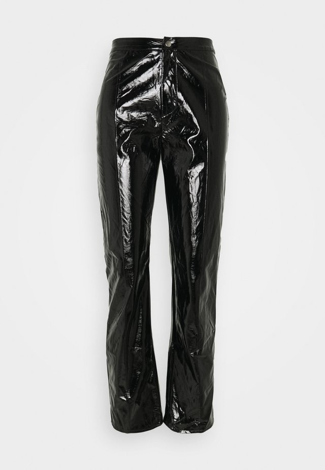 SHINY TROUSER - Pantaloni - black
