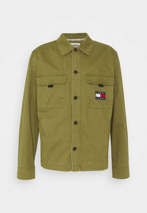 BACK GRAPHIC OVERSHIRT UNISEX - Veste légère - uniform olive