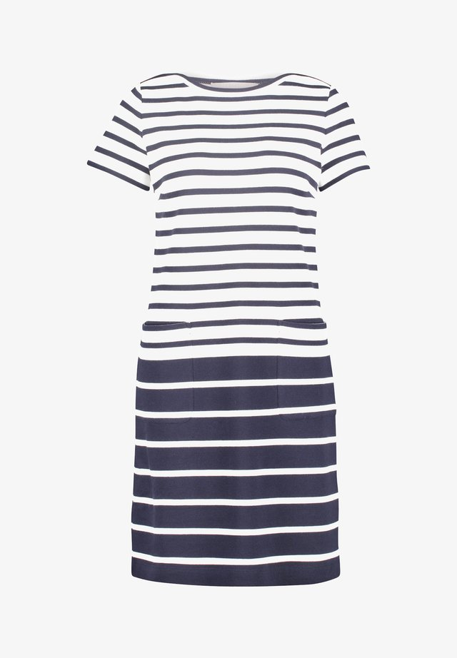 Korte jurk - blau/weiß
