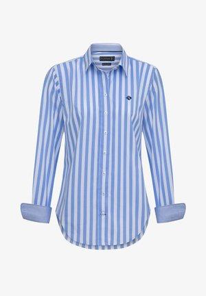 Overhemdblouse - blue white