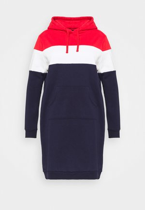Day dress - red/white/dark blue