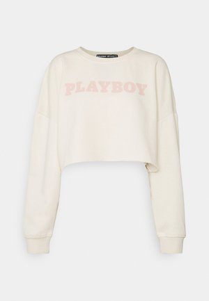 PLAYBOY LOGO CROP - Sweatshirt - sand